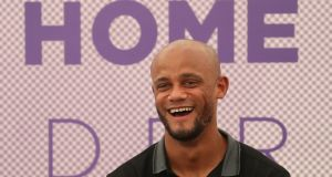 "Vincent Kompany: ""I have the chance to make my mark here and I'm proud that I have that opportunity."" Photograph: Yves Herman/Reuters"