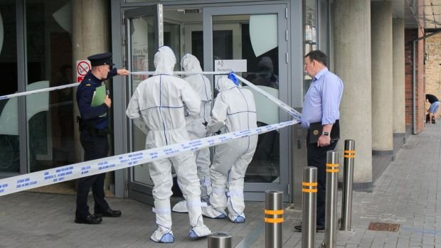Gardaí were called to an apartment at Bonham Street in Dublin's Liberties early on Wednesday after a woman was fatally stabbed. Photograph: Gareth Chaney/Collins.