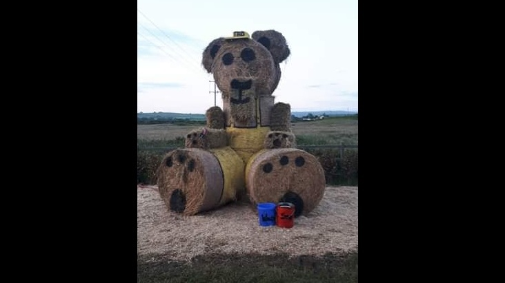 Gardaí investigate burning of giant straw teddy in Co Kerry