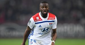 Lyon midfielder Tanguy Ndombele: Spurs have offered the French club an initial €62m  plus €3m   in add-ons. Photograph: Getty Images
