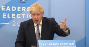 Boris Johnson speaking during a live digital hustings on Wednesday as he faced questions from the public, hosted on the Conservative party's Facebook page. Screengrab: Conservatives/Facebook/PA Wire