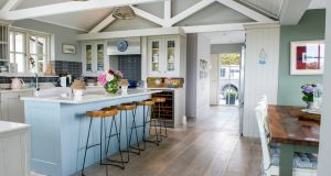 The kitchen and eating area in Emma Kelly's home in Kinsale, Co  Cork. Photograph:  Daragh Mc Sweeney/ Provision
