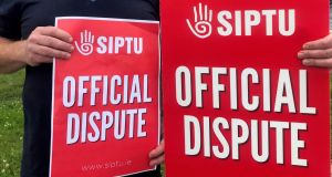 Siptu-represented  hospital workers are planning three days of strikes next week. Photograph: Cate McCurry/PA Wire