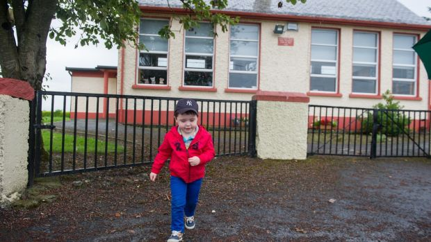 Five years ago, Cian Fitzsimons was the only child starting school in Finea, County Westmeath. This year the school will take in five new pupils. Photograph: Barry Cronin