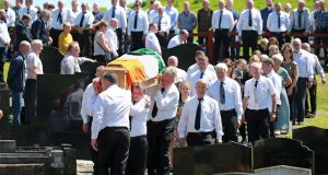 The funeral of IRA man and ex-hunger striker Kevin McKenna at St Mary's Chapel, Magherarney, Smithborough. Photograph by Crispin Rodwell/The Irish Times