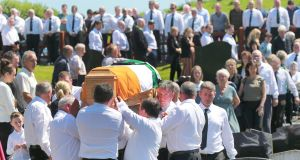 Funeral of IRA man and ex-hunger striker Kevin McKenna at St Mary's Chapel, Magherarney, Smithborough. Photograph by Crispin Rodwell for the Irish Times
