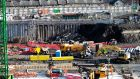 The construction site of The National Children's Hospital. Photograph:   The Irish Times.