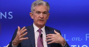 Federal Reserve chief  Jerome Powell  has come under pressure from markets and Donald Trump to cut rates. Photograph: Reuters/Brendan McDermid