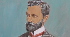 Kuno Meyer complained that Germany had done nothing to manifest its sympathy with Irish separatism since the comradeship in arms inaugurated in 1916 at the instigation of Roger Casement above). Image: Detail from Mick O'Dea's portrait of Roger Casement (Photograph: Nick Bradshaw)