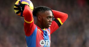 Aaron Wan-Bissaka has signed a five-year contract with Manchester United. Photograph:  Paul Harding/PA Wire