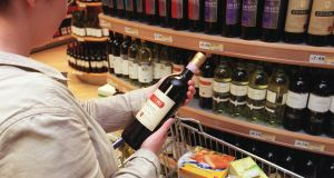 A 75cl bottle of white wine costing €5.99 will increase by €1.11. Photograph: Matt Kavanagh