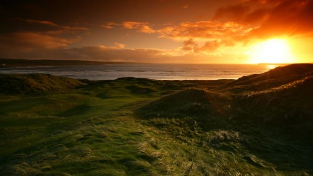 The sun sets over the famous old links at Lahinch. Photo: Getty Images