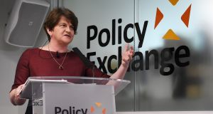 "Democratic Unionist Party leader Arlene Foster: the union is ""special"" and ""precious"" and more important than any other political cause. Photograph: Facundo Arrizabalaga"
