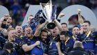 Leinster lift the Champions Cup in 2018. Photo: Billy Stickland/Inpho