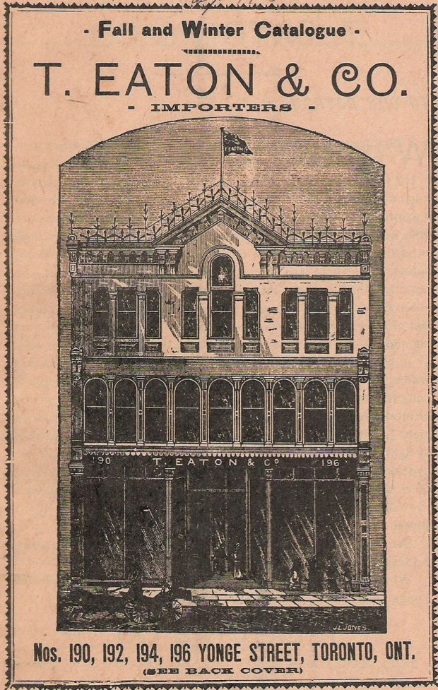 The cover of the first Eaton's catalogue published in 1884. It depicts their new premises, which had opened the previous year. Photograph: Wikipedia, Public Domain
