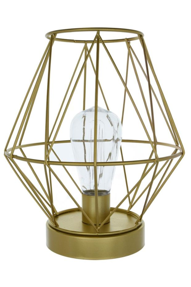 If you fancy something far more affordable and immediate you can take this battery-operated LED bulb gold lantern anywhere