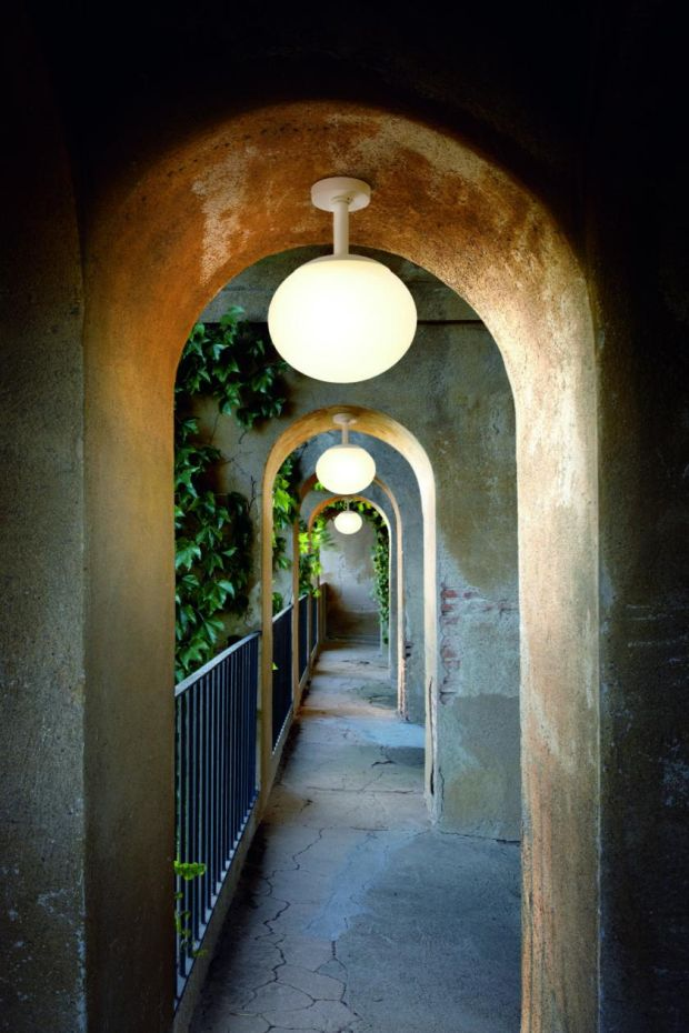 If your garden or exterior features arches then Eclipse, a range of spherical outdoor lights by Spanish lighting firm Bover, might be just the thing