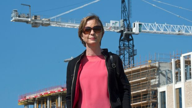 Architect Collette Burns at the TU Dublin site in Grangegorman: 'When the cranes are down, chaos ensues.' Photograph: Dave Meehan for the Irish Times