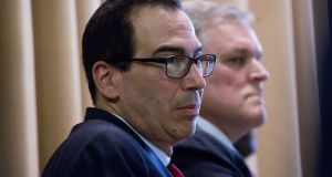 US treasury secretary Steven Mnuchin: rejected the Ways and Means Committee request and a subsequent congressional subpoena.  Photograph: Andrew Harrer/Bloomberg