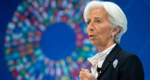 Christine Lagarde's lack of economic training and experience in monetary policy will prompt questions about her nomination as ECB president. Photograph: Saul Loeb/AFP/Getty Images