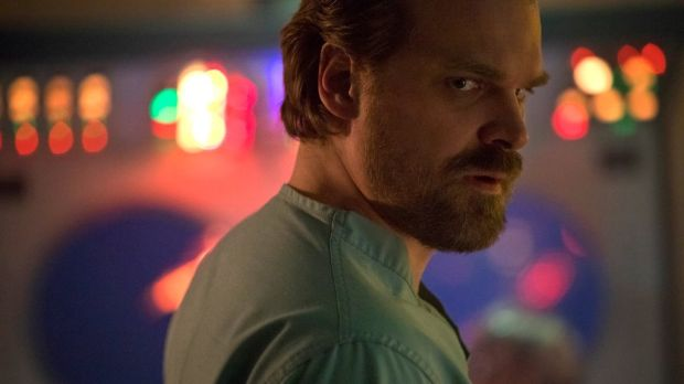 David Harbour in Season 2 of Stranger Things. Photograph: Netflix