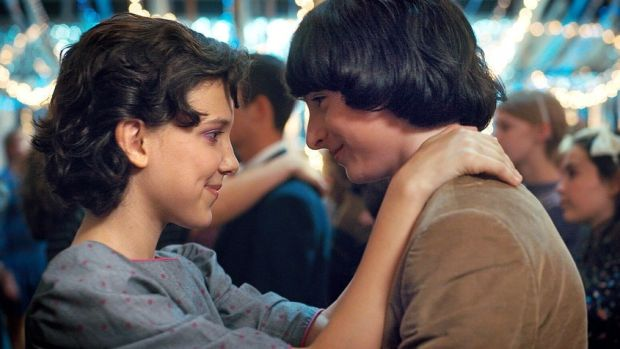 Millie Bobby Brown and Finn Wolfhard in Season 2 of Stranger Things. Photograph: Netflix Millie Bobby Brown and Finn Wolfhard in Season 2 of Stranger Things. Photograph: Netflix