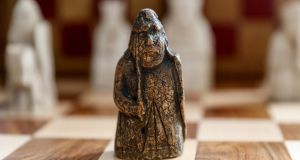 The rare Lewis Chessmen piece. Photograph: Tristan Fewings/Getty Images for Sotheby's