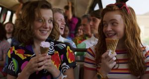 Millie Bobby Brown and Sadie Sink in Stranger Things Season 3. Photograph: Netflix