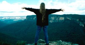 Down under: Anne Casey in the Blue Mountains in Australia. Photograph: John Kelly