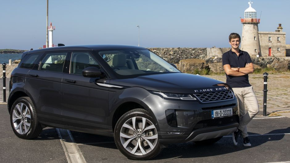 Donal Skehan with the new Range Rover Evoque: