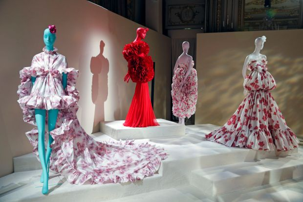 Paris Fashion Week: part of Giambattista Valli's presentation. Photograph: Thierry Chesnot/Getty