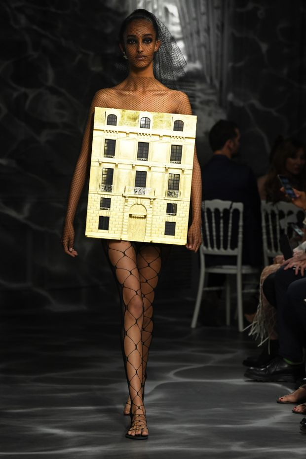 Paris Fashion Week: Dior's doll's house dress. Photograph: Pascal Le Segretain/Getty