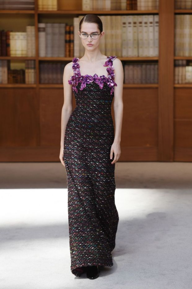Paris Fashion Week: a Chanel design. Photograph: Christophe Archambault/AFP/Getty