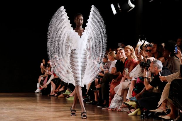Paris Fashion Week: an Iris van Herpen design. Photograph: Thomas Samson/AFP/Getty
