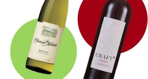 John Wilson's wines for a Fourth of July weekend:  Chateau Ste Michelle Riesling and Craft 3 Zinfandel