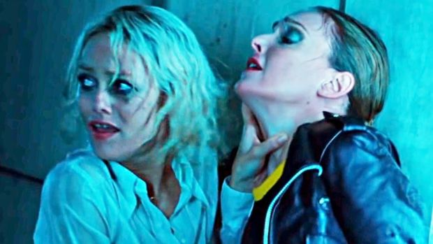 New this week: Vanessa Paradis (left) in Knife + Heart