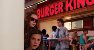 Stranger Things Season 3: Sadie Sink as Max and Millie Bobby Brown as Eleven. Photograph: Netflix