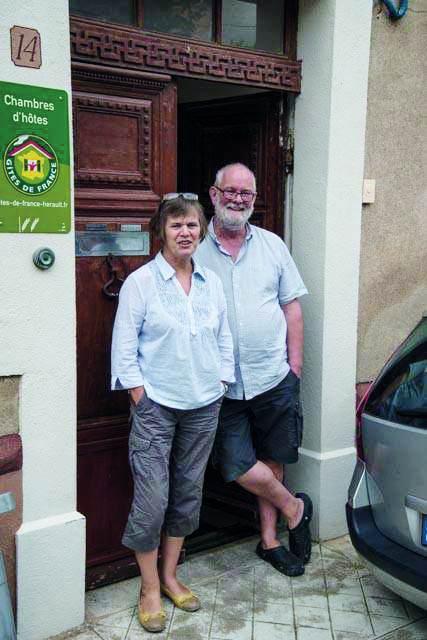 Martin and Sile Dwyer at their French home and business in the Languedoc