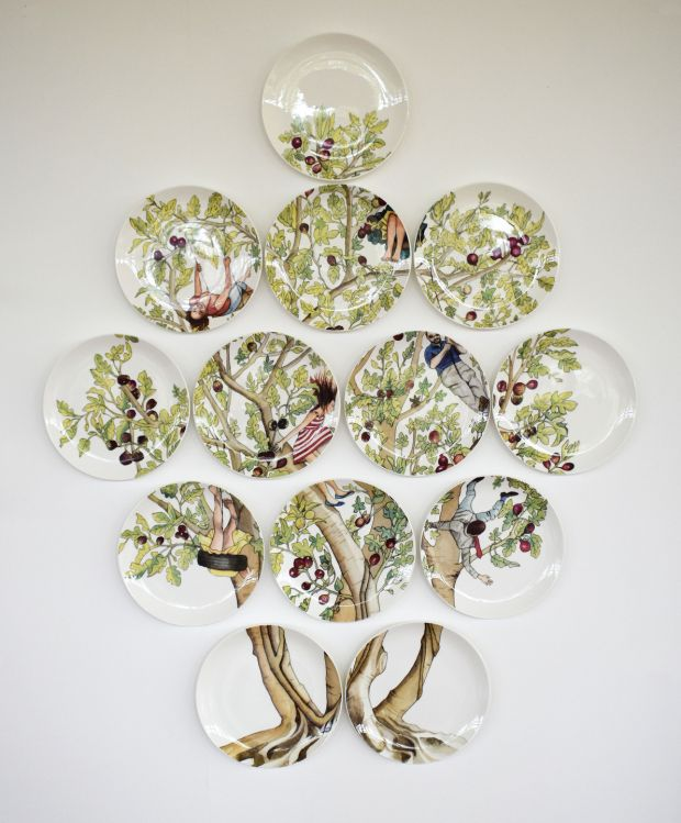 Tree of Life series of ceramic plates by Ann McBridge, €1,200