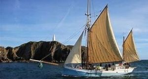 The 'Ilen' wooden ketch, en route to Greenland from Limerick.
