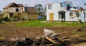 The aftermath of an EF-4 tornado in Dayton, Ohio. Photograph: Stephen Starr