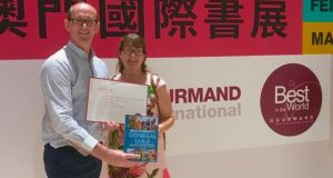 Brian McDermott and his wife  Brenda at the Gourmand World Cookbook Awards in Macau, China