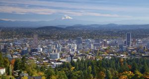Portland, Oregon, is proudly green and sustainable, with ambitious 2050 targets for emissions and renewable energy. Photograph: iStock