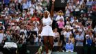 Serena Williams needed three sets to see off Kaja Juvan at Wimbledon. Photograph: Laurence Griffiths/Getty
