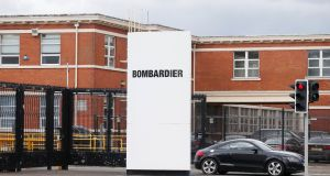 The Short Brothers Bombardier factory in Belfast. Photograph: Jonathan Porter/PressEye