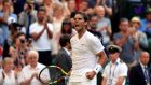 Rafael Nadal celebrates beating Nick Kyrgios on day four of Wimbledon. Photograph: Adam Davy/PA