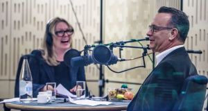Kirsty Young with Tom Hanks on Desert Island Discs. Photograph: BBC/PA Wire