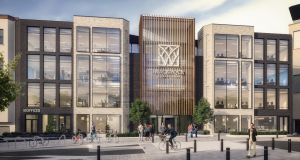 An artist's impression of the offices at the Blackrock Village Centre at Blackrock in south Dublin