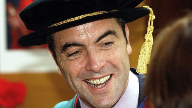 James Nesbitt in 2003, when he was conferred with an honorary doctorate by University of Ulster. He is now the university's chancellor.