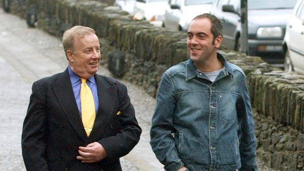 James Nesbitt with civil rights leader Ivan Cooper, who he played in the film Bloody Sunday, in Derry in 2002.